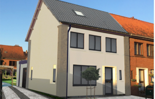 hertenhof - gevel simulatie